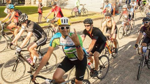 Reporter gets serious with Tour de Victoria's 140km ride