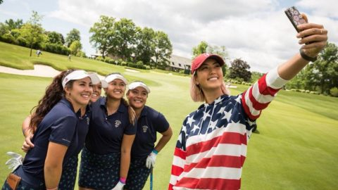 Michelle Wie offers red, white and blue inspiration to US Curtis Cup squad