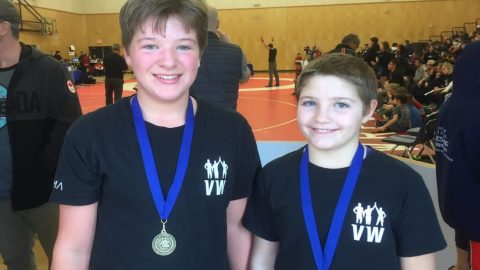 Greater Victoria siblings score matching wrestling gold medals