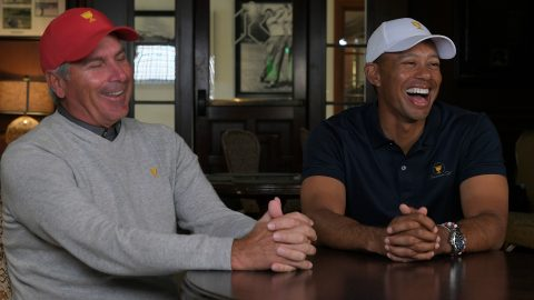 Couples on Woods' ace: 'I never have seen Tiger so excited'