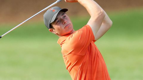 Hovland preps for Masters, likely turning pro this summer