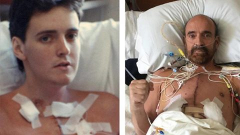 Retired pro soccer player on his third heart, dishcharged after double transplant