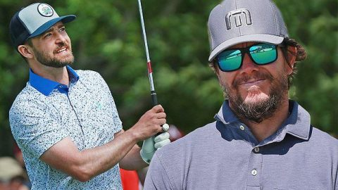 Justin Timberlake and Mark Wahlberg hit the links