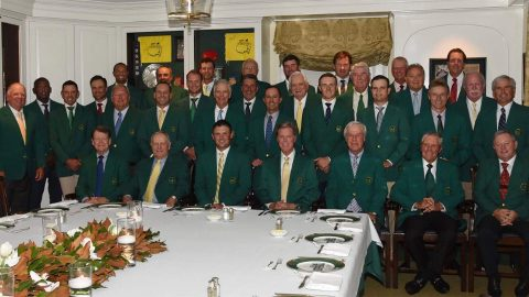 Photo: Winners gather for Reed's hearty Masters Champions Dinner