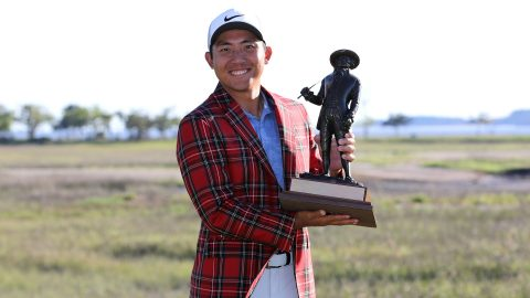 Pushed by wife, Pan surges to first win on Sunday at RBC Heritage