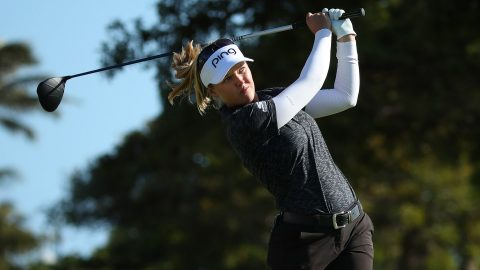 Defending champion Henderson tied for lead with N. Korda at Lotte Championship