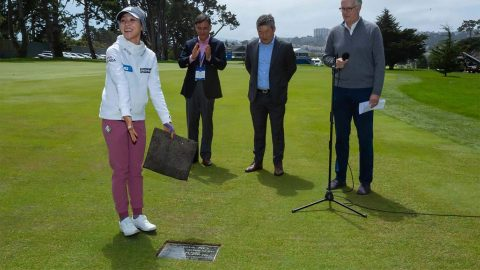 Ko gets plaque at Lake Merced commemorating epic shot, playoff win