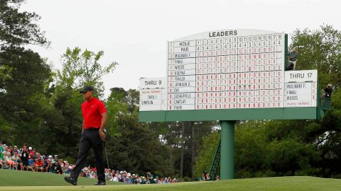 Notes: Woods used leaderboard, roars to advantage at Masters