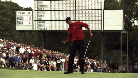 Woods, unlike anything ever seen, wins Masters in historic fashion