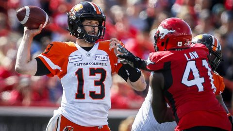 B.C. Lions give up late lead, fall 36-32 to Stampeders