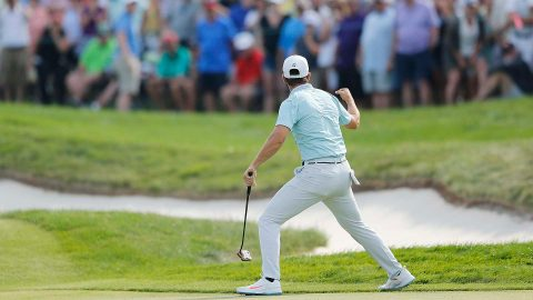 Watch: Wolff drains 26-foot eagle putt from fringe to clinch first Tour win