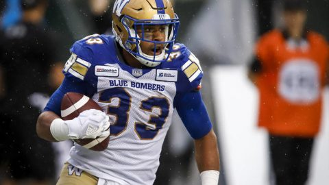 CFL suspends Bombers' Harris for two games for positive drug test