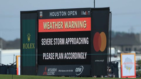 Round 2 of Houston Open resumes after weather delay