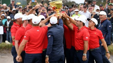 Woods-led US crush Els dream to win Presidents Cup