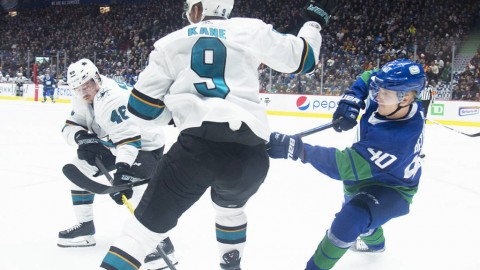 Canucks extend home win streak to 8 with 4-1 triumph over Sharks