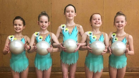 Young Greater Victoria rhythmic gymnasts qualify for BC Winter Games