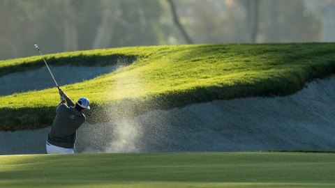 Ryan Palmer needs 6 shots to escape bunker at Riviera