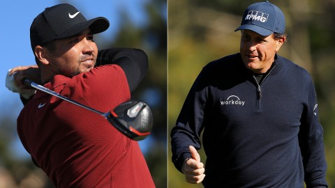 Day, Mickelson vault into contention heading to weekend at Pebble