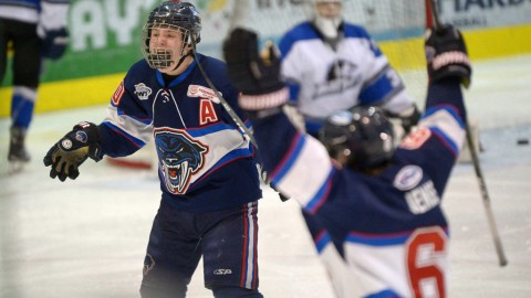Peninsula Panthers one win from clinching playoff series against Westshore Wolves