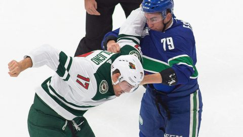 Wild blank Canucks 3-0 to take early NHL play-in series lead