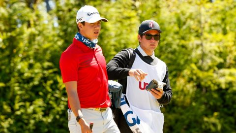Michael Thorbjornsen starts strong at U.S. Am with help from caddie, the No. 10 amateur in world