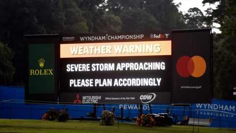 Tee times moved up for third round of Wyndham Championship