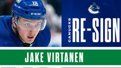 Abbotsford's Jake Virtanen, Vancouver Canucks agree to two-year deal
