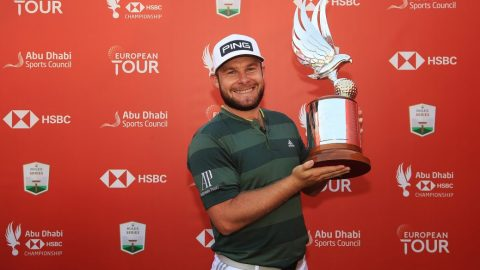Happy Tyrrell Hatton races past Rory McIlroy to win in Abu Dhabi