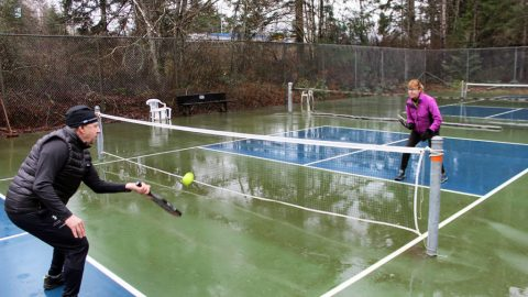 Vancouver Island-bound snowbirds settle for winter pickleball at home