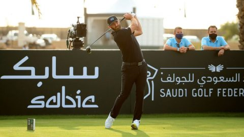 Ouch! Dustin Johnson hits volunteer on fly with drive in Saudi Arabia