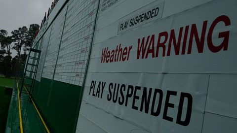 Weather disrupts day three at Augusta