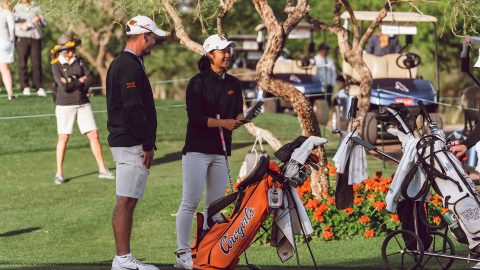 Glued together, Oklahoma State navigates NCAAs with birdies and laughs