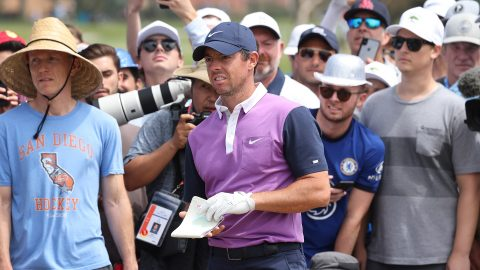Sight for sore eyes: Rory McIlroy with a chance entering Sunday of a major