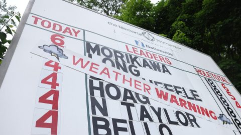 After multiple delays, Round 1 of Memorial Tournament suspended for day