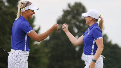 Afternoon fourball matches on Day 1 of the Solheim Cup